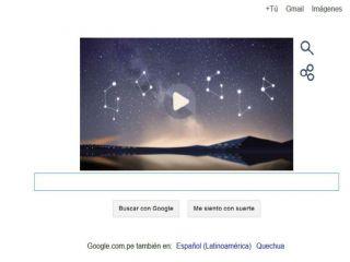 Lleg� al doodle de Google una  lluvia de meteoros