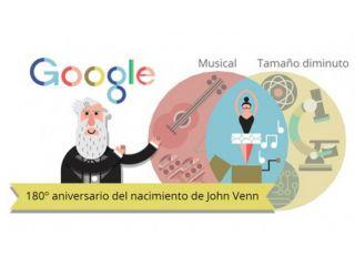 Un  nuevo doodle interactivo homenajea a John Venn y sus diagramas