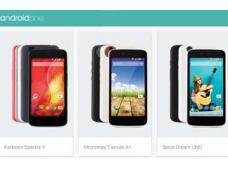 Los primeros smartphones de bajo costo, Android One de Google