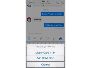Los usuarios de Facebook Messenger podr�an enviar dinero a sus contactos