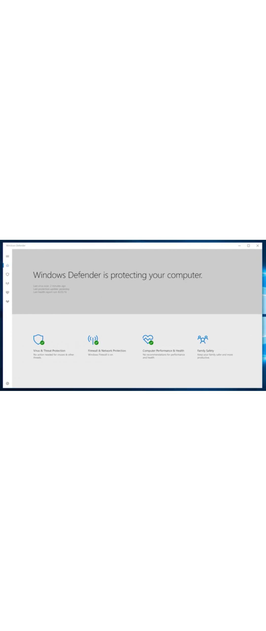 Microsoft trabaja en una aplicación UWP de Windows Defender