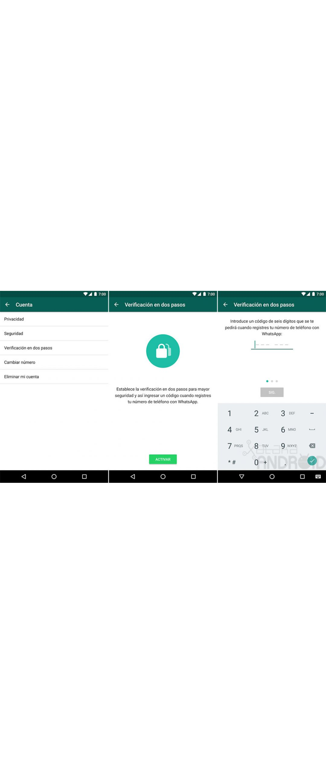 Beta de WhatsApp implementa la verificación de dos pasos