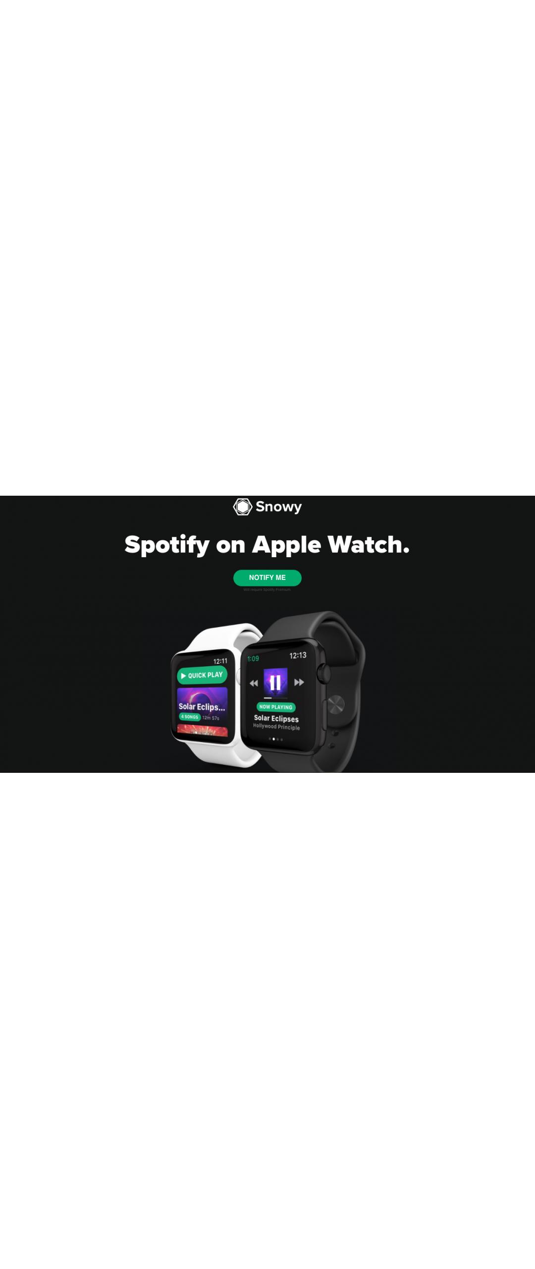 Va a salir Spotify para el Apple Watch