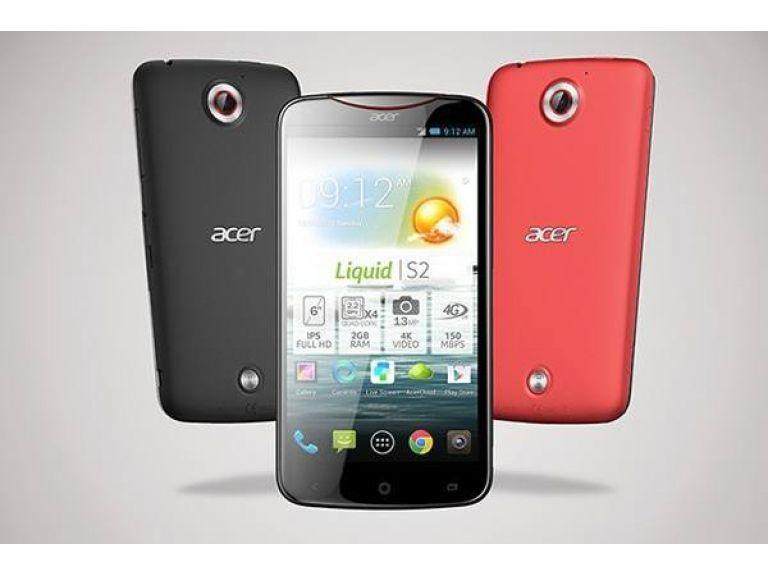 Acer dio a conocer el Liquid S2
