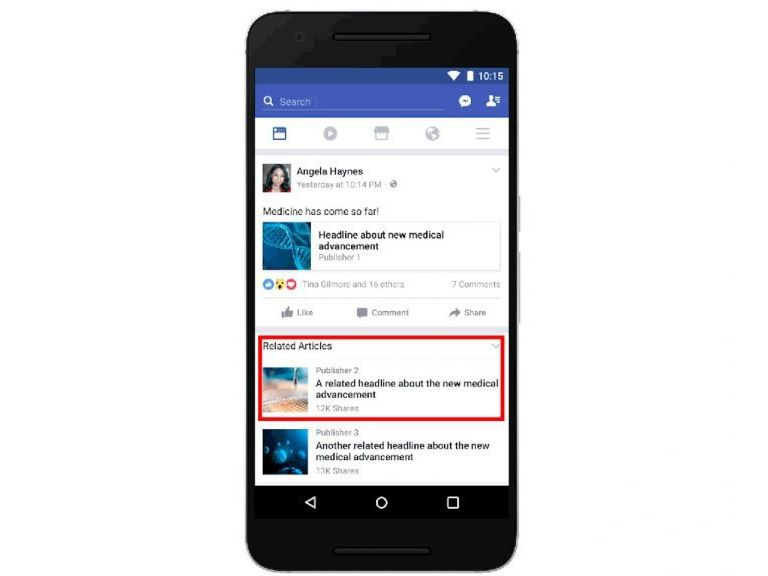 Facebook corregirá a usuarios que compartan noticias falsas