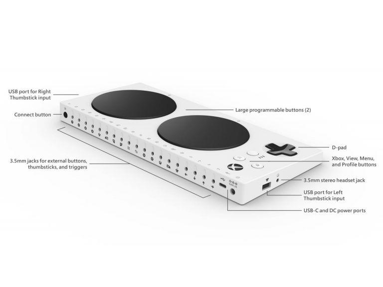 Microsoft presenta su control de Xbox adaptativo para usuarios con discapacidad física