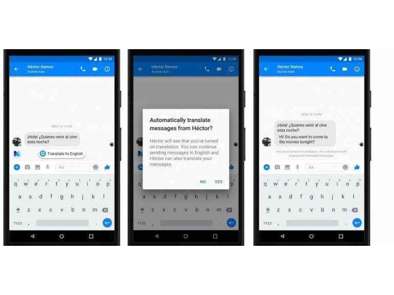 Facebook Messenger incorpora oficialmente una función de traducción propia