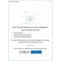 Focused Inbox llegará a Gmail en la app de Outlook para Windows 10
