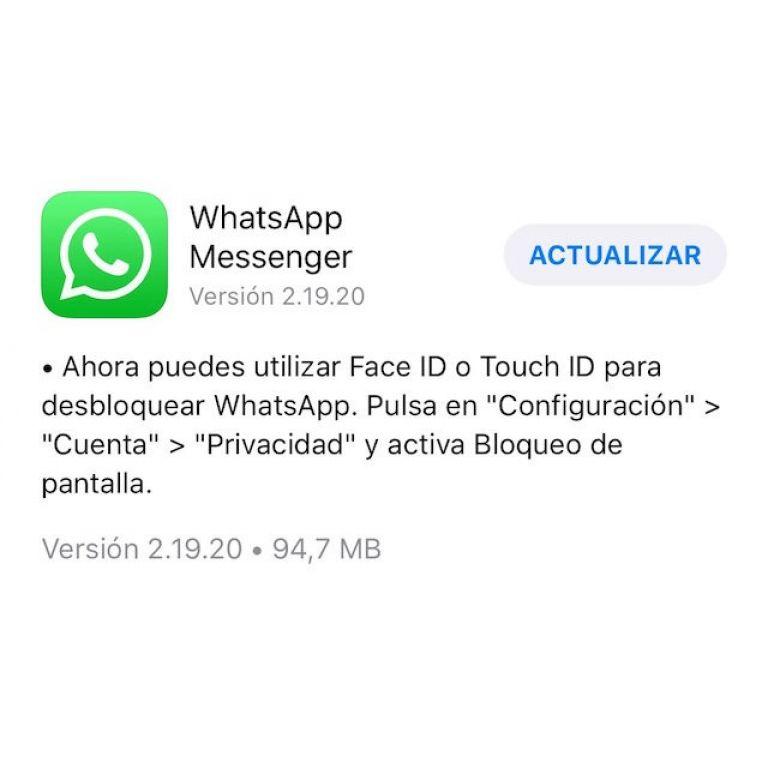 ¡Fuera intrusos! Ahora puedes bloquear WhatsApp con Touch ID o Face ID en tu iPhone