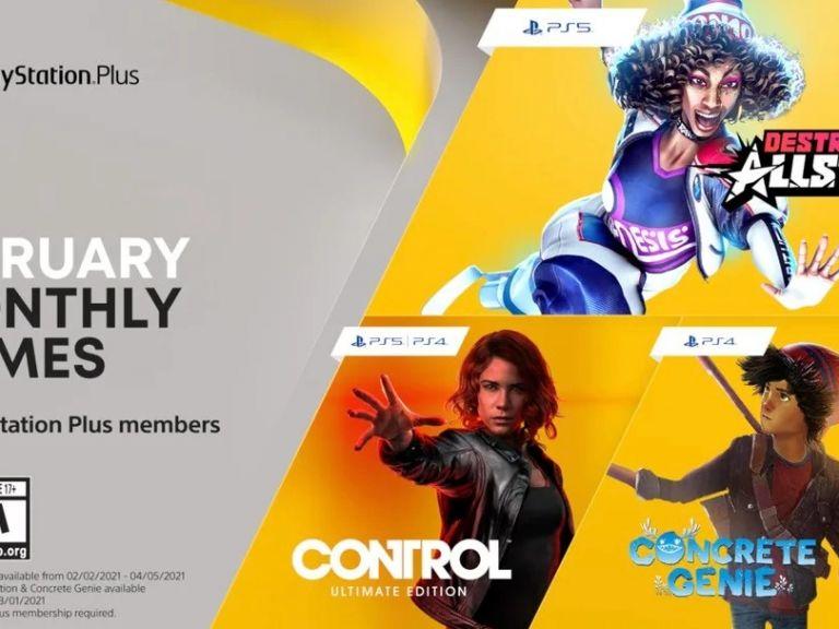 PlayStation Plus: estos son los juegos que estarán disponibles en febrero 2021