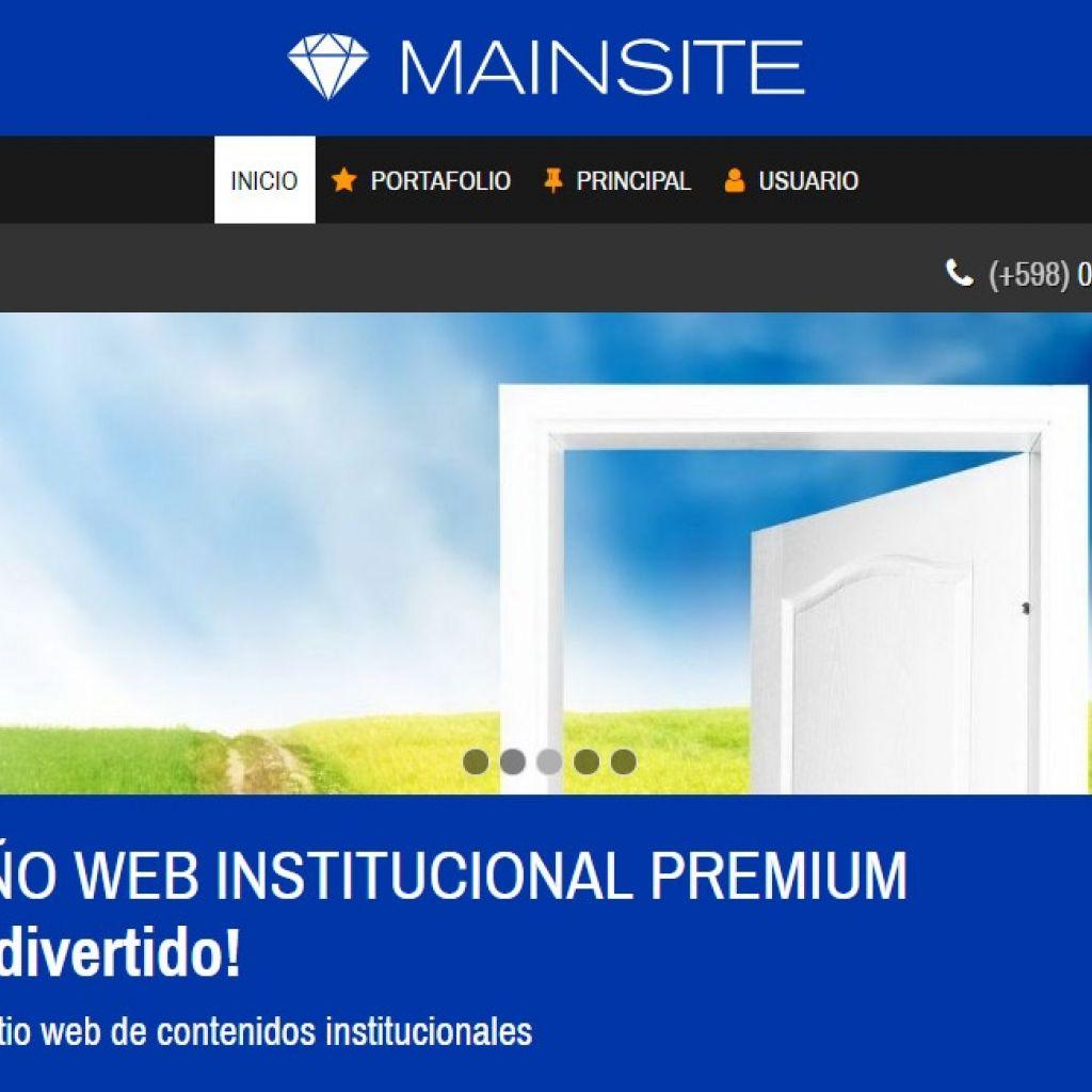 Demo de diseño para sitio web institucional corporativo.