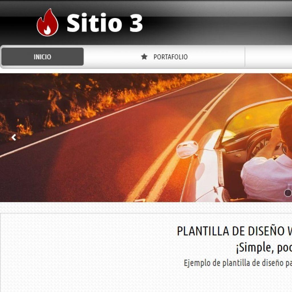 Plantilla de diseño de sitio web para proyecto de contenidos institucionales.