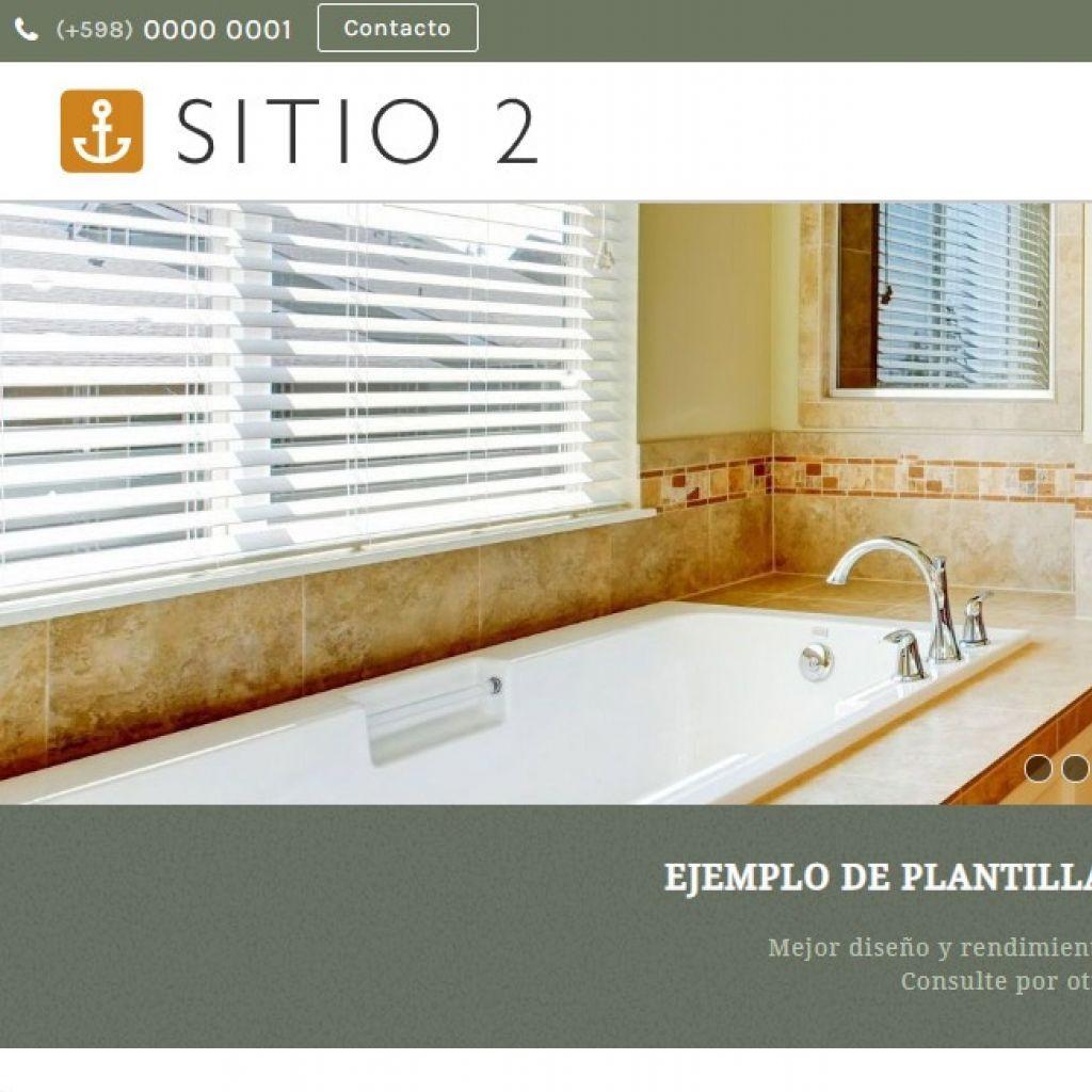 Demo de sitio web para alojamiento hotel.