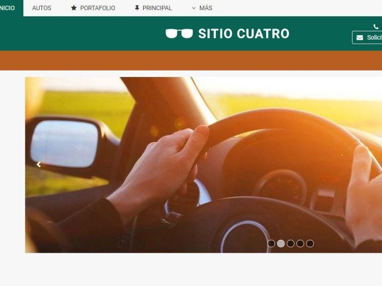 Plantilla de diseño web para automotora lista para usar online. - AUTOS 4 . Diseño sitio web automotora rentadora