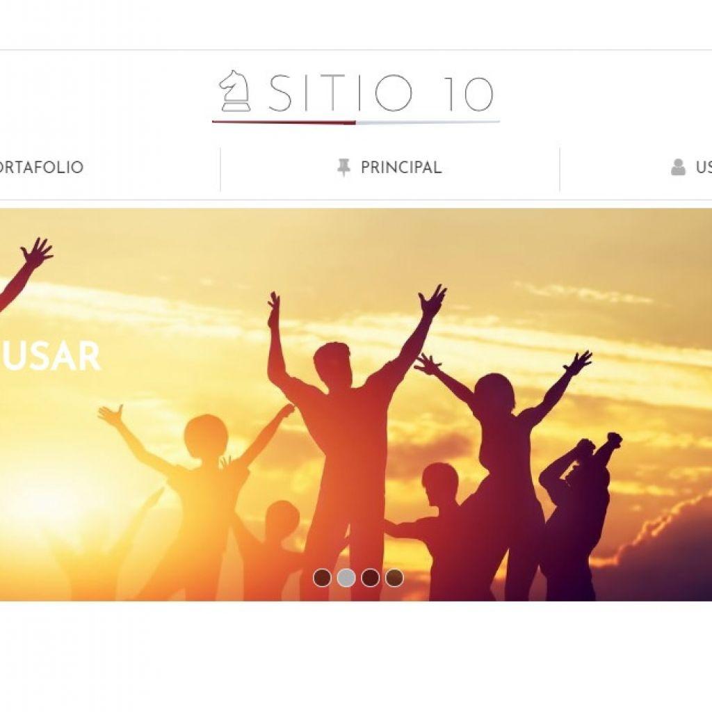 Template de diseño de página institucional.