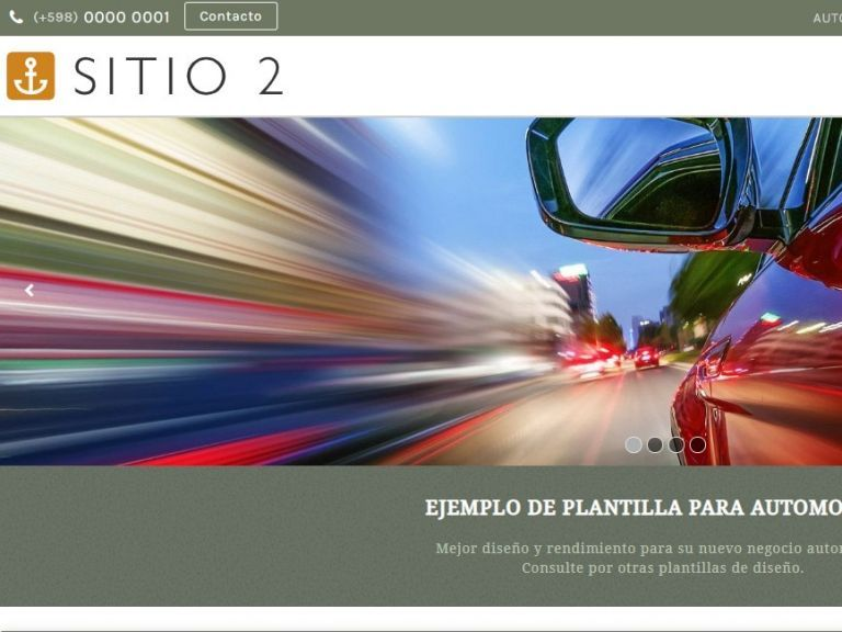 Template de diseño web profesional para rentadora de autos. - AUTOS 2 . Diseño sitio web automotora rentadora