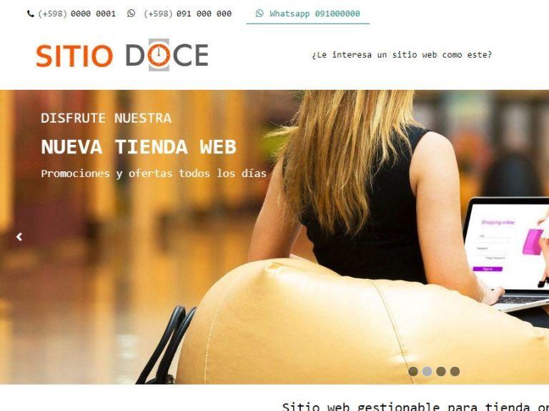 Template de diseño web 12 para tienda de comercio electrónico con carrito virtual. - TIENDA 12 . tienda virtual